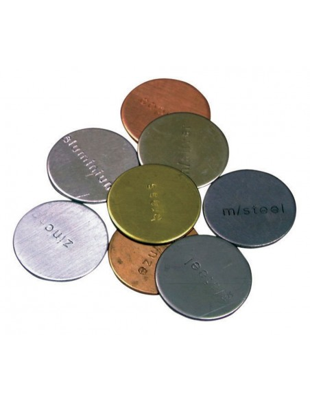 Lot de pièce différents métaux zinc cuivre pour découverte sensorielle matériel scolaire didactique