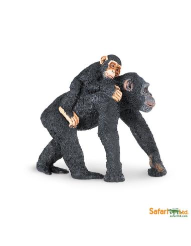 Figurine Chimpanzé & bébé - Safari Ltd® 295929 Safari Ltd® {PRODUCT_REFERENCE}  Animaux sauvages - 1