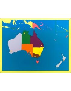 Carte planisphère contiNent mappemonde matériel montessori Puzzle géographie Montessori OCEANIE Cabinet pedagogique educatif mat