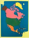 Carte planisphère contiNent mappemonde matériel montessori Puzzle géographie amerique du nord Cabinet