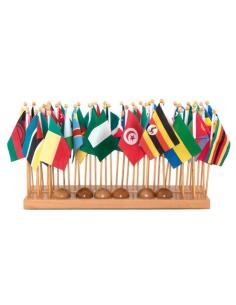 Drapeaux afrique montessori matériel géographie cabinet didactique neuroscience alvarez