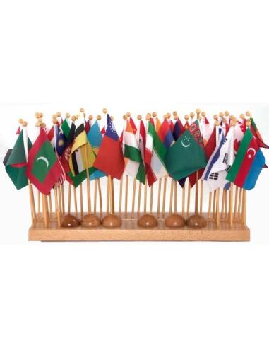 Drapeaux de l'Asie Montessori (Drapeau 30cm) LesMinis Montessori {PRODUCT_REFERENCE}  Géographie - 1