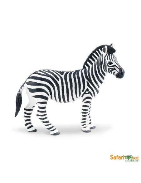Figurine Zèbre Safari 271729 Matériel pédagogique Enrichissement Montessori Jouet Cartes maternelle science vocabulaire jeu