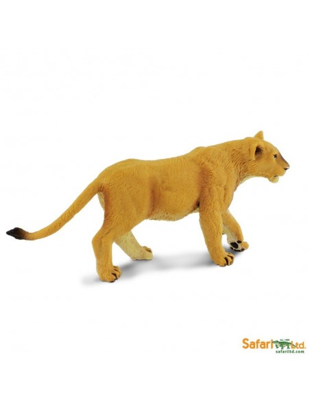 Figurine Lionne Safari 290329 Matériel pédagogique Enrichissement Montessori Jouet Cartes maternelle science vocabulaire jeu