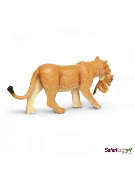 Figurine Lionne & bébé Safari 225229 Matériel pédagogique Enrichissement Montessori Jouet Cartes maternelle science vocabulaire