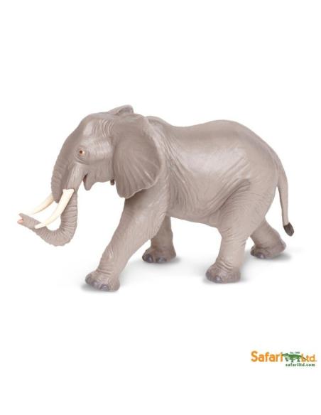 Figurine Éléphant d'Afrique2 Safari 270029 Matériel pédagogique Enrichissement Montessori Jouet Cartes maternelle science vocab