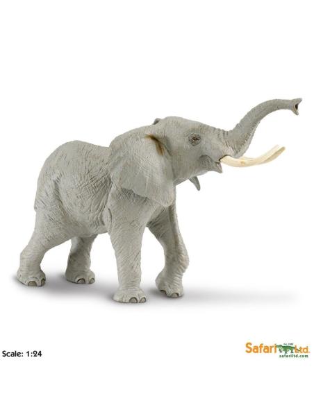 Figurine Éléphantgrand modèle Safari 111089 Matériel pédagogique Enrichissement Montessori Jouet Cartes maternelle science voca