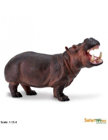 hippopotame XL grand animaux des continents figurine safari enrichissement montessori geographie science carte
