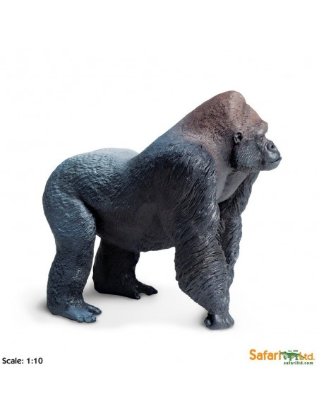 gorille XL grand animaux des continents figurine safari enrichissement montessori geographie science carte