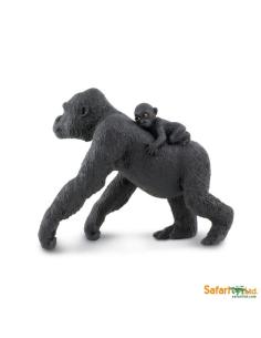 gorille maman femelle bébé animaux des continents figurine safari ltd enrichissement montessori geographie science carte