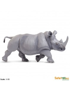 rhinocéros XL grand animaux des continents figurine safari enrichissement montessori geographie science carte