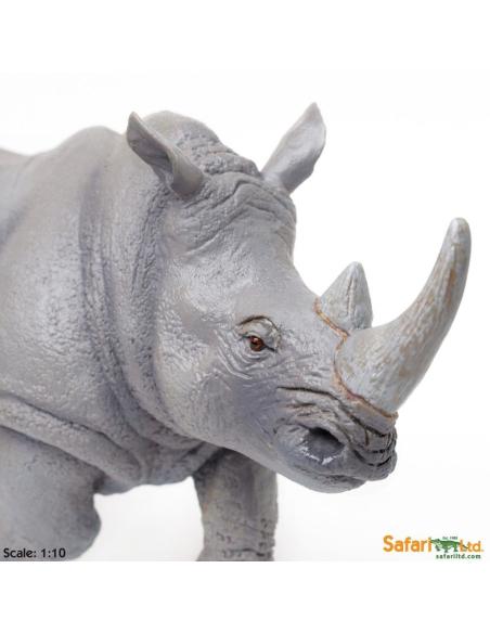rhinocéros XL grand animaux des continents figurine safari enrichissement montessori geographie science carte