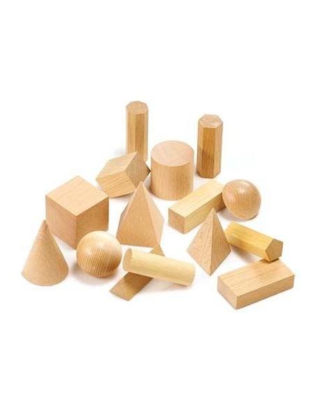Lot 15 solides géométriques montessori matériel ecole maternelle primaire apprendre freinet CP collectivite motricite
