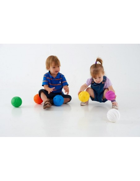 Set 6 balles sensorielles agripper couleur texture sensoriel apprendre cognitif decouverte montessori waldorf steiner