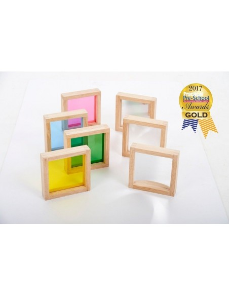 Cadres sensoriels Lots de 7 carrés sensoriels couleur miroir table Matériel éducatif