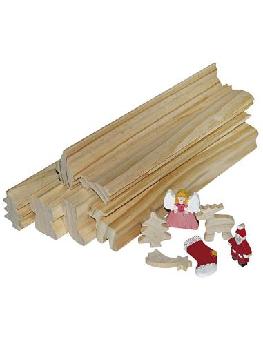 Profil bois à scier Noël 30 cm – Lot de 6 Autres {PRODUCT_REFERENCE}  Activités manuelles - 1
