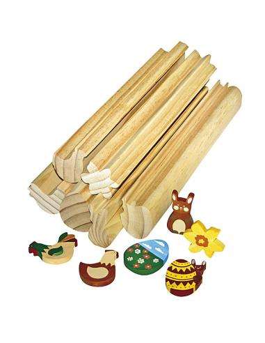Profil bois à scier Pâques 30 cm – Lot de 6 Autres {PRODUCT_REFERENCE}  Activités manuelles - 1