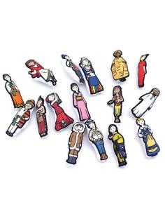 figurine personnage Planisphère tissu Montessori carte monde jeu didactique pedagogique maternelle primaire jouet fait main