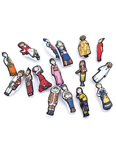 figurine personnage Planisphère tissu Montessori carte monde jeu didactique pedagogique maternelle primaire jouet oskar ellen