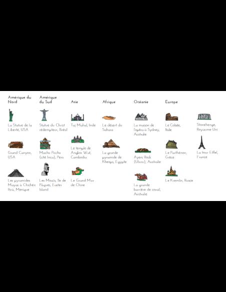 monument Planisphère tissu Montessori carte monde jeu didactique pedagogique maternelle primaire accessoire oskar