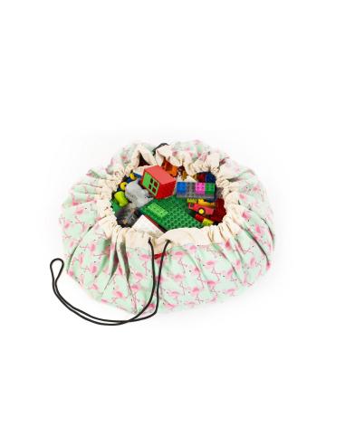 Sac Tapis Play&go jouet flamingo flamant rose enfant hopital collectivité garderie nourrice nounou ecole maternelle crèche