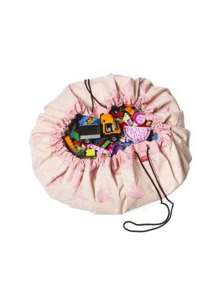 Sac Tapis Play&go jouet elephant rose enfant hopital collectivité garderie nourrice nounou ecole maternelle crèche