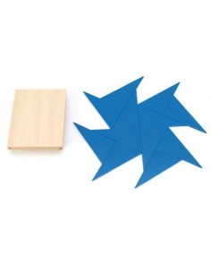 Triangles constructeur 6 rectangle bleu materiel montessori classe maternelle primaire sensoriel