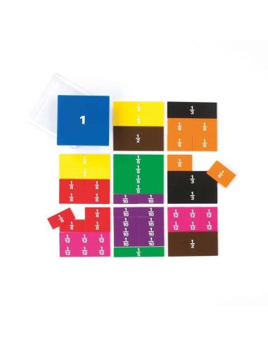 Fractions carrées - Matériel Mathématiques Edx education Matériel éducatif et pédagogique 53852  Fractions et pourcentage - 1