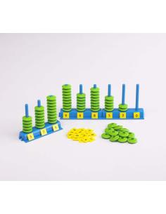 Abaque système décimal montessori grand nombre decimal mathematiques méthode singapour classe maternelle primaire college