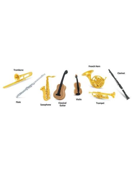 Figurines Instruments Tube Safari 685404 Matériel pédagogique Enrichissement Montessori Jouet Cartes maternelle science vocabula