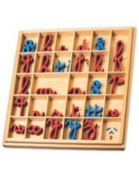 Alphabet mobile cursif montessori francais graphie maternelle classe langage dictee muette ecriture