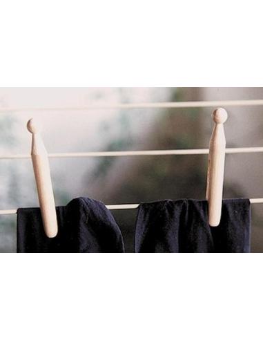 Pince à linge en bois 2.5cm activité pratique montessori imitation