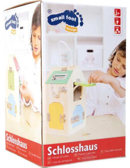Maison à serrures Matériel Montessori didactique motricité fine sensorielle jouet enfant bois