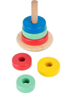 Tour à empiler vascillante balance enfant jouet bois educatif montessori cognition waldorf