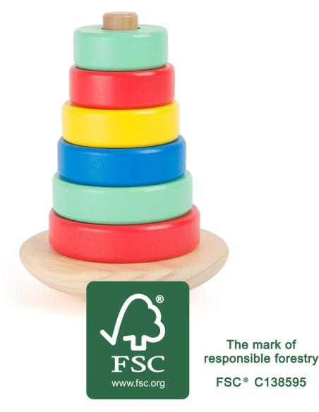 Tour à empiler vascillante balance enfant jouet bois educatif montessori cognition waldorf pedagogique