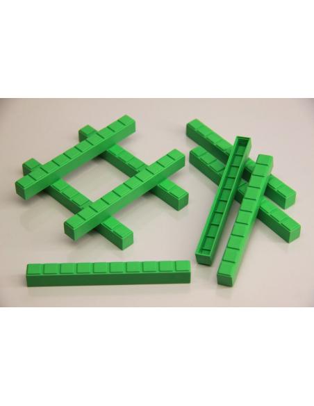 Base 10 encastrable emboitable Système décimal coloré Dienes Montessori Singapour ecole primaire matériel collectivite
