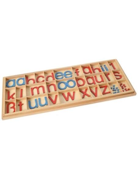 Alphabet mobile Montessori script materiel didactique Montessori langage dictee muette ecrire lire pedagogique