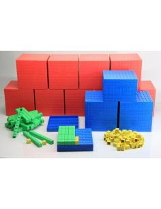 Système décimal coloré base 10 materiel maths montessori dienes méthode singapour ecole chevalet dés