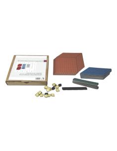Système décimal magnetique Montessori Base 10 en couleur cube cm3 dienes méthode de singapour