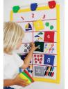 toile tissu jeu educatif fait main materiel compter numeration maths petit