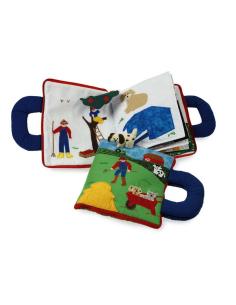 livre tissus la ferme animaux activite montessori jeu jouet equitable voyage bebe