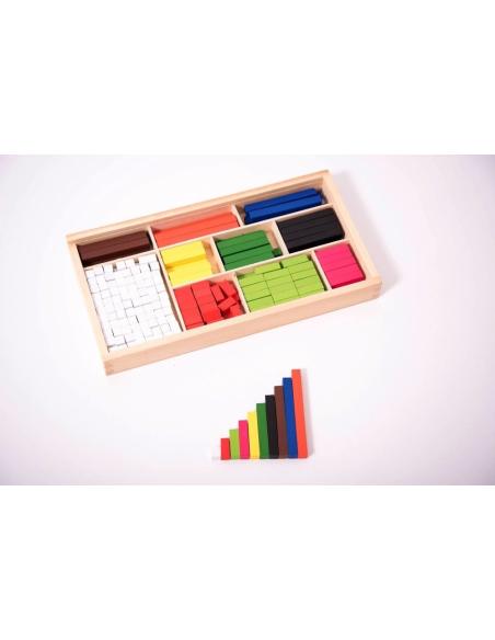 Réglettes Cuisenaire authentique baton calcul materiel didactique educatif calcul nomre maths