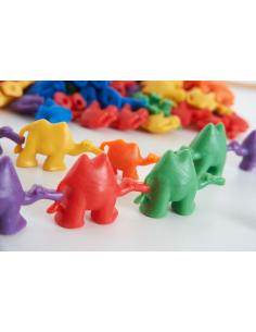 Figurine plastique chameaux couleur connectable poids tri algorithme sequence maths scolaire