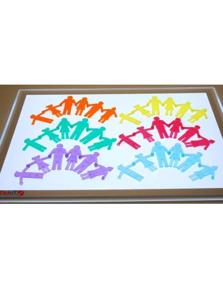 Personnage en silicone materiel educatif mathematique table sensoriel lumineuse motricite