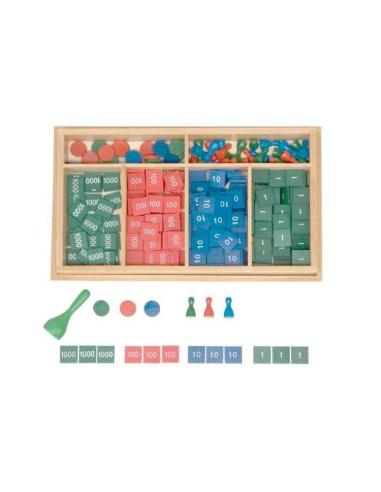 Timbres Montessori - Système décimal jetons en couleur LesMinis Montessori {PRODUCT_REFERENCE}  Mathématiques - 3