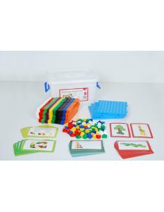 Matériel methode singapour cubes emboîtables multidirectionnels manipulation mathematique educatif pedagogique didactique