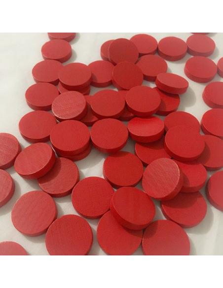 Lot jeton rouge materiel montessori compter pair impair manipulation mathematique accessoire bois pas cher piece