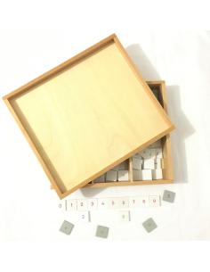 Boîte de chiffres pour damier multiplication