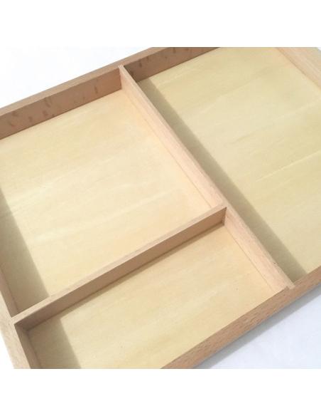Boîte trois parties nomenclature support grande carte activite montessori materiel langage vocabulaire lire