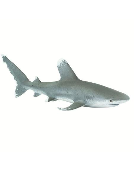 Requin oceanique longimane pointe blanche large figurine educative enrichissement montessori vocaculaire monde marin